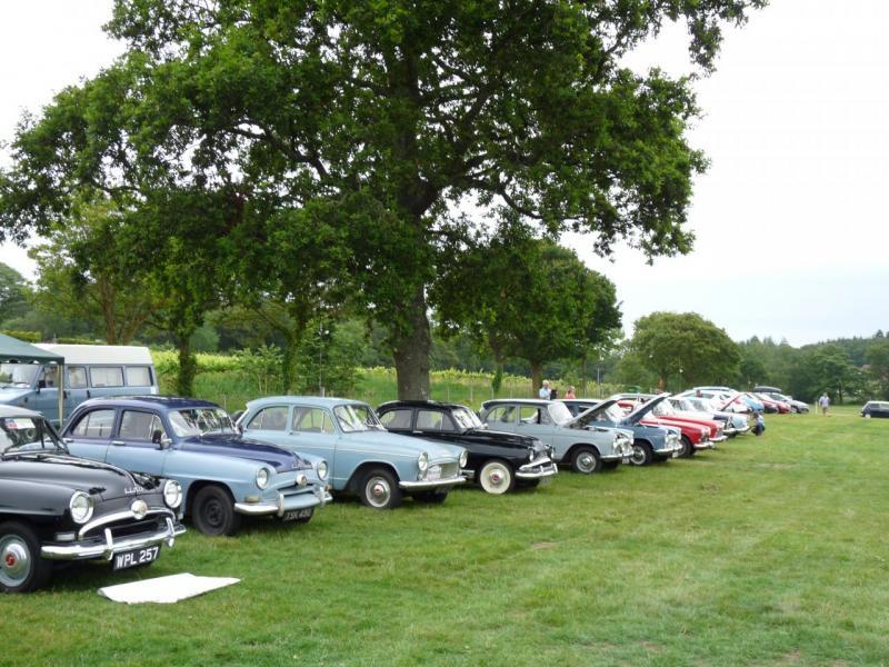 Vue du site, +/- 150 voitures