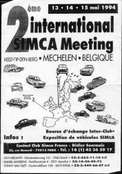 Affiche international simca 1994