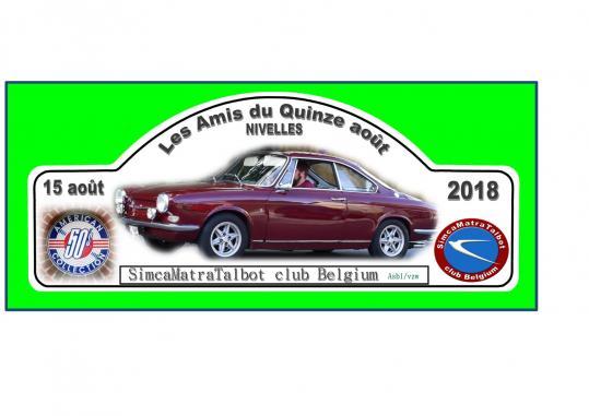 Plaque rallye 2018